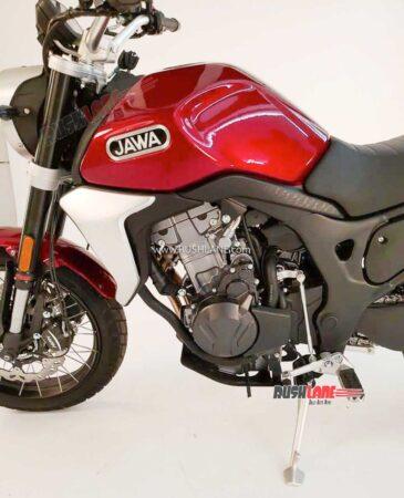 New Jawa 500cc Scrambler Spied