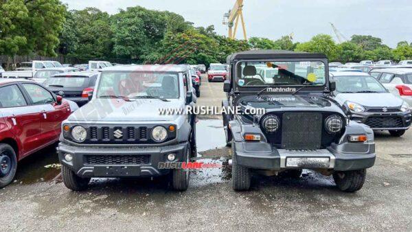 Maruti Jimny and Mahindra Thar