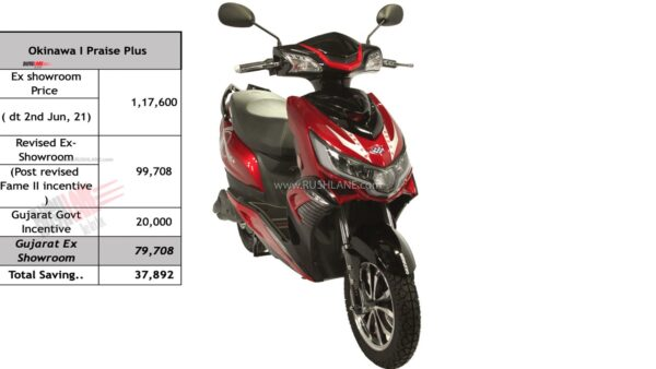 Okinawa Electric Scooter - iPraise+ Price In Gujarat
