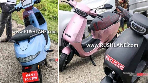 Ola Electric Scooter in Pink and Blue