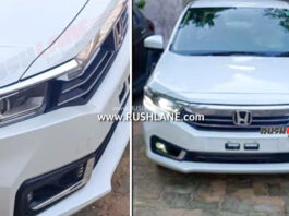 2021 Honda Amaze facelift Spied Undisguised