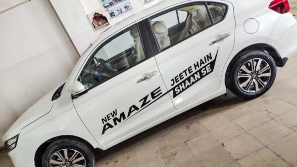 Honda Amaze Facelift Test Drive Car