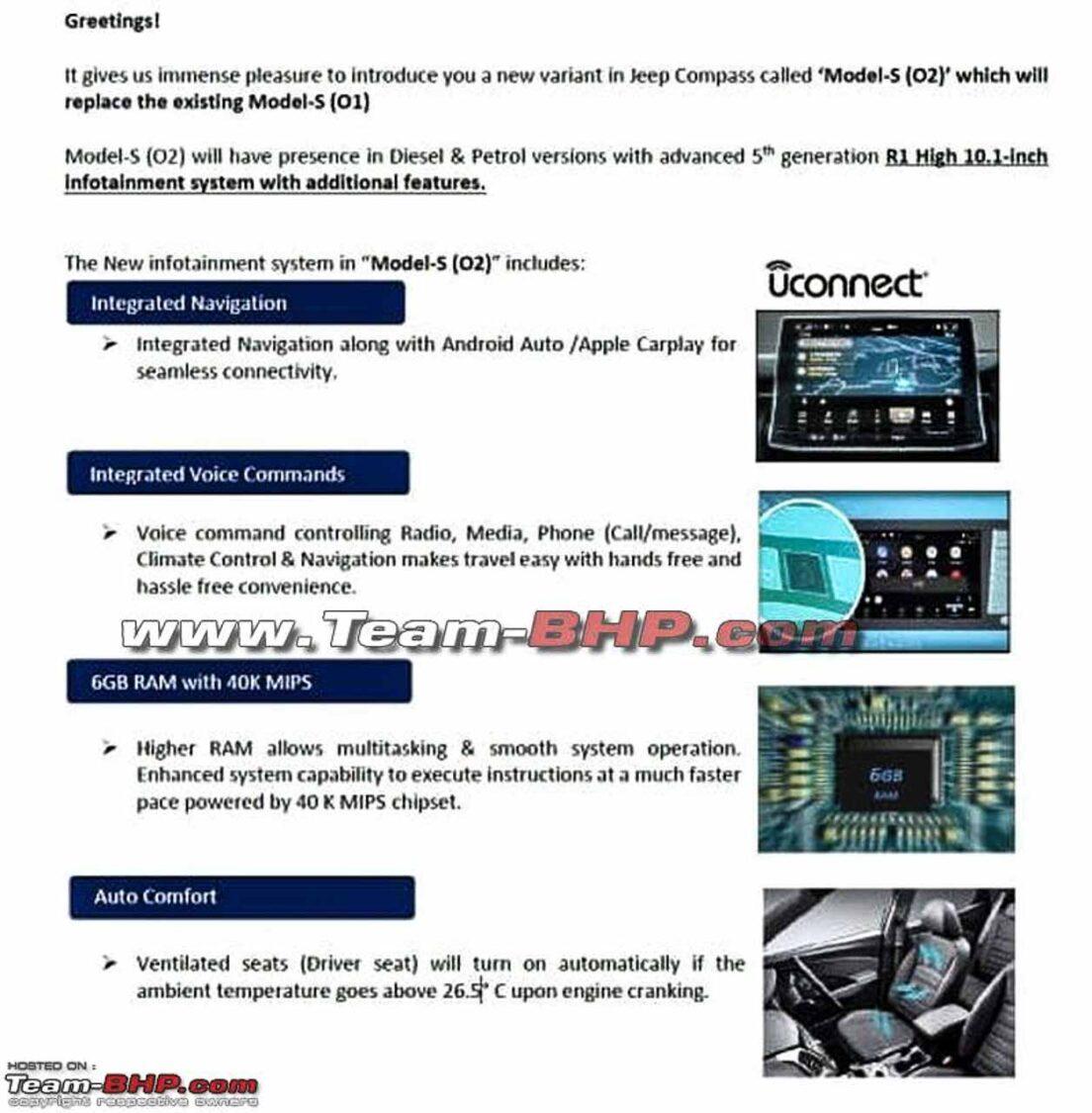 2021 Jeep Compass Model S Updates