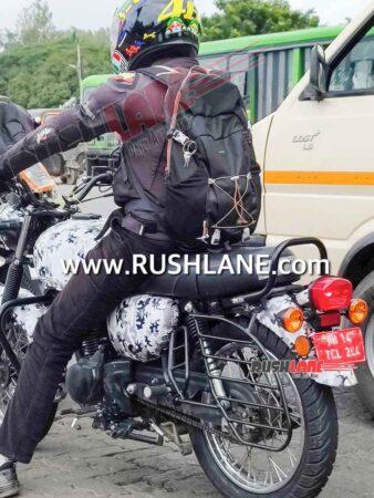 Kawasaki W15 Spied In Pune