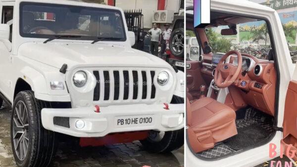 Mahindra Thar White Modification By Sikand Car