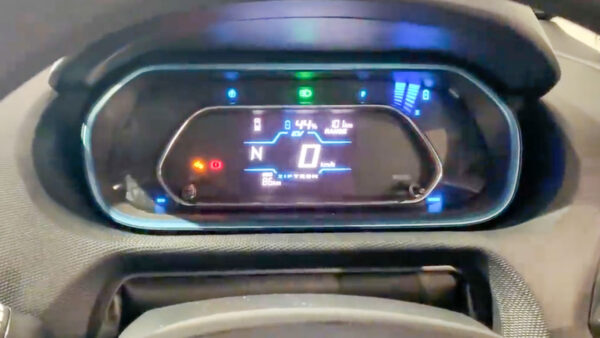 New Tata Tigor electric instrument cluster shows off battery charge and range details