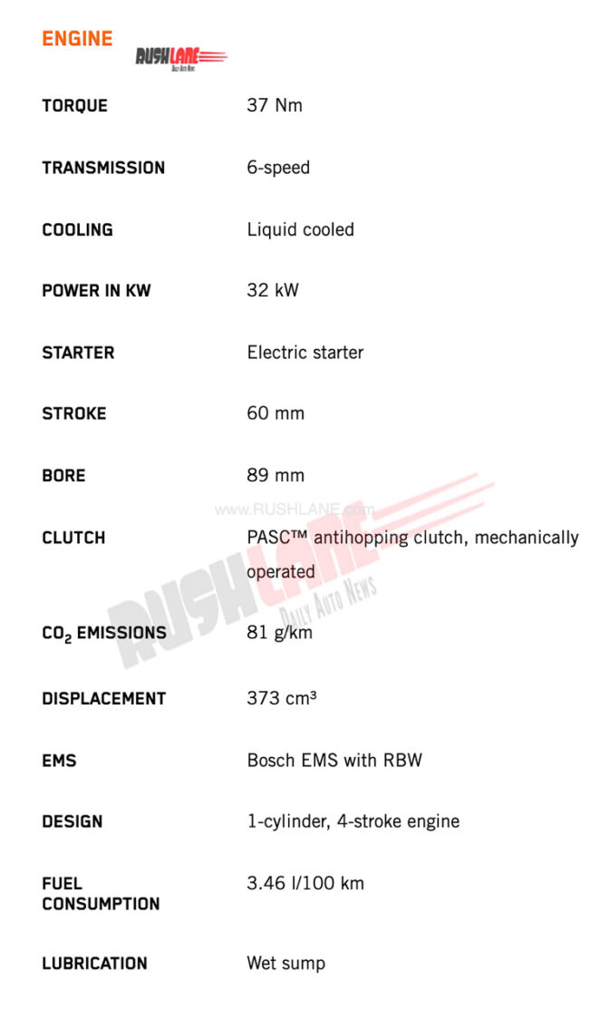 2022 KTM RC 390 Specs - 1