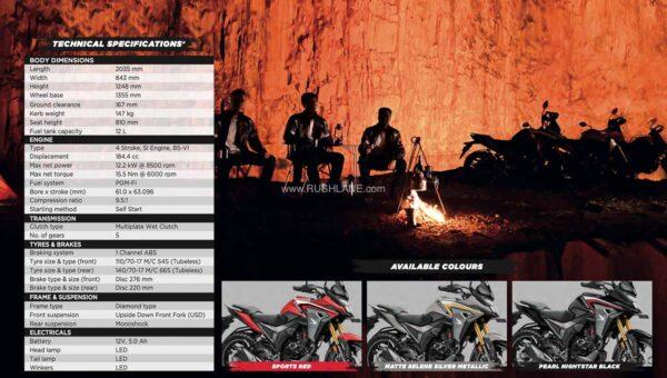 Honda CB200X Brochure Specs