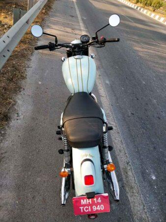 Jawa test motorcycle spied