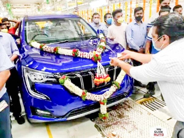 Mahindra XUV700 First Unit Rolls Out Of Production Plant