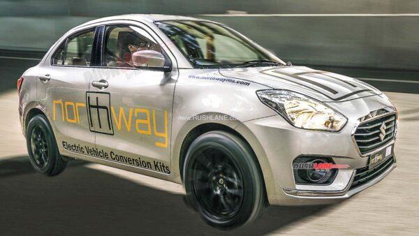 Maruti Dzire EV Conversion Kit