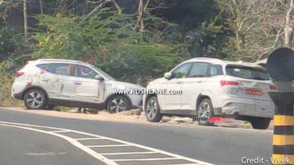 MG Hector test mule spied