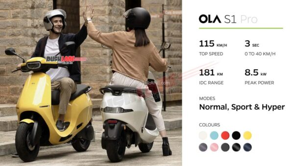 Ola S1 Electric Scooter Specs