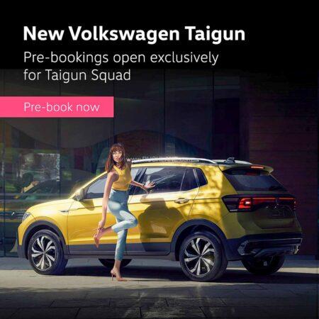 Volkswagen Taigun Bookings Open For Taigun Squad