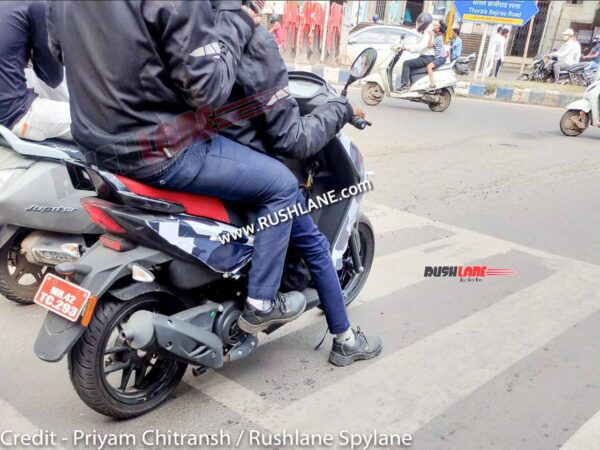 New Aprilia Scooter Spied In Pune