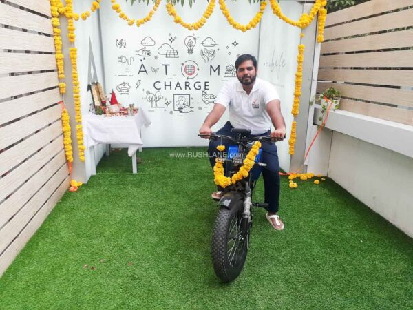 Mr. Vamsi with Atum at the launch of Atum Charge