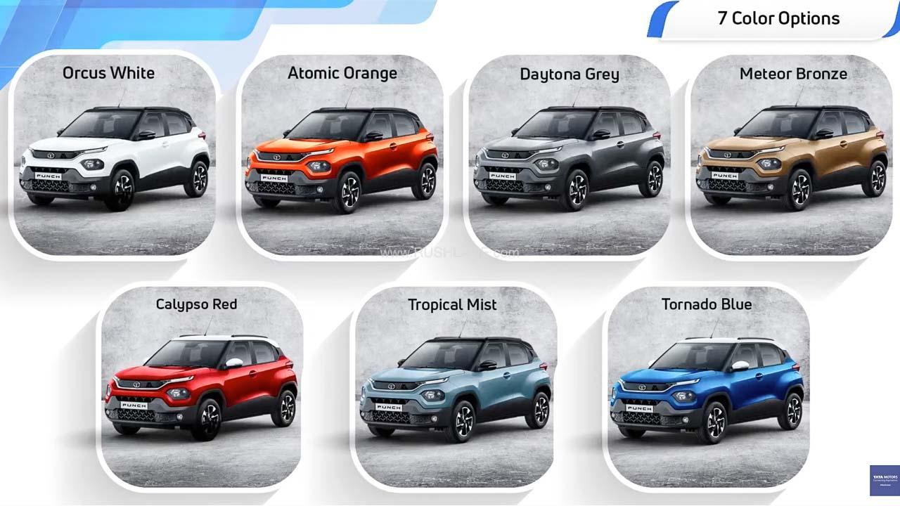 Tata Punch Colors