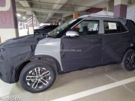 2022 Hyundai Venue Facelift Spied