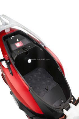 Ampere Magnus EX Electric Scooter Underseat Storage