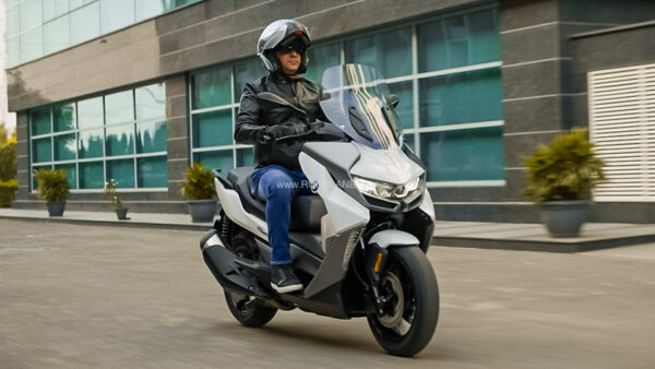 BMW India President Riding New Scooter