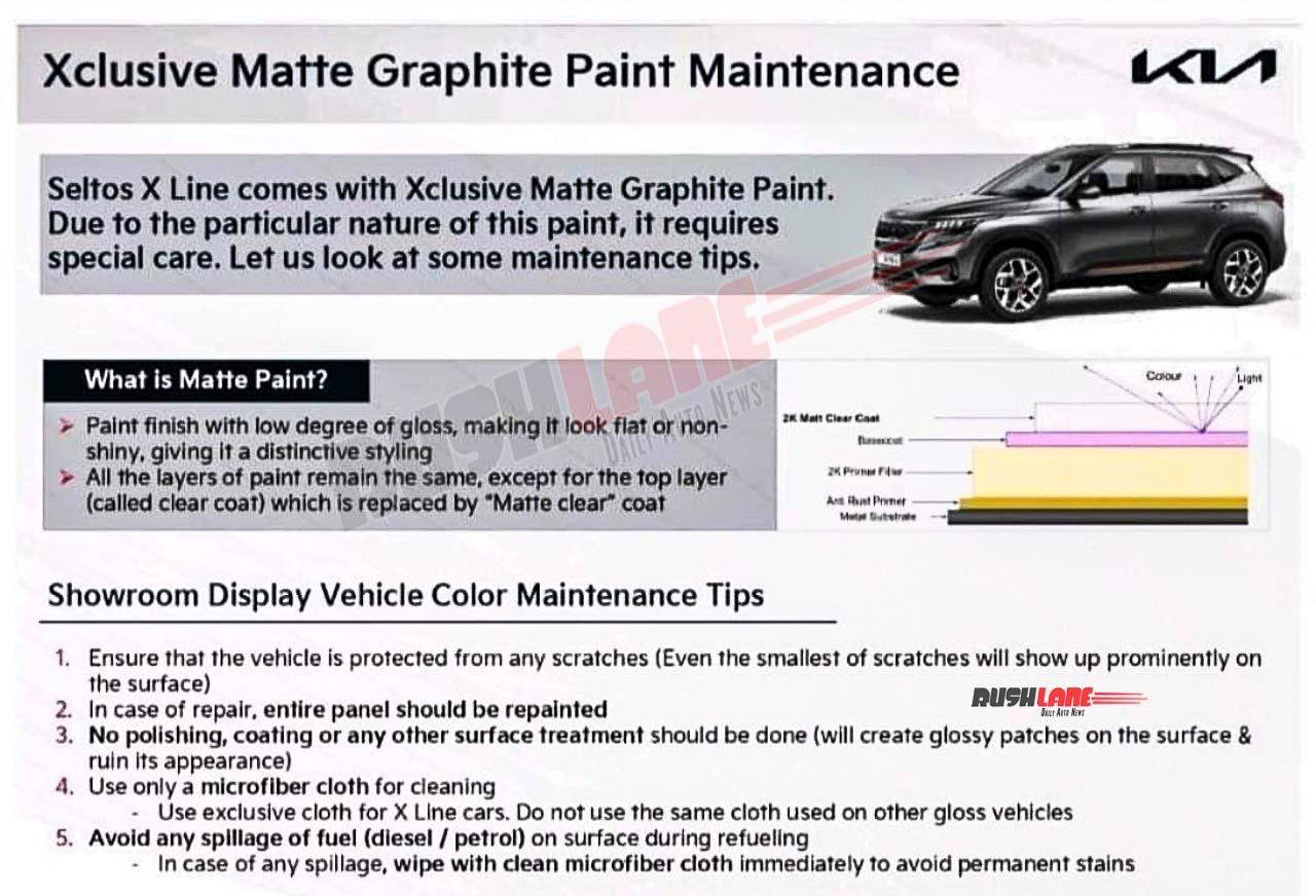 Kia Seltos X-Line Matte Color Maintenance Do's and Don'ts