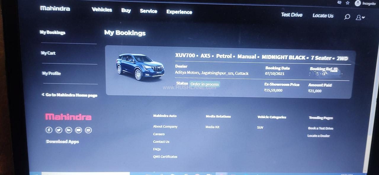 Mahindra XUV700 Booking