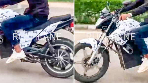 HOP Electric Motorcycle Spied